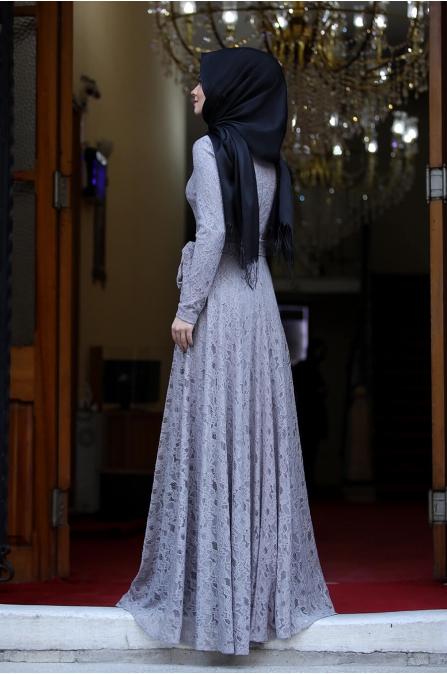 Nisa Abiye - Gri - Ahunisa