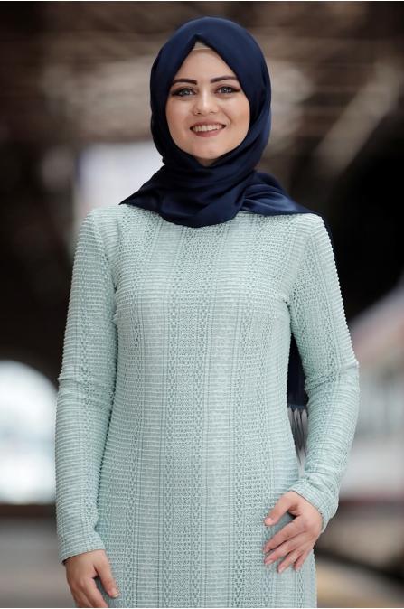 Aysema Elbise - Mint - Ahunisa