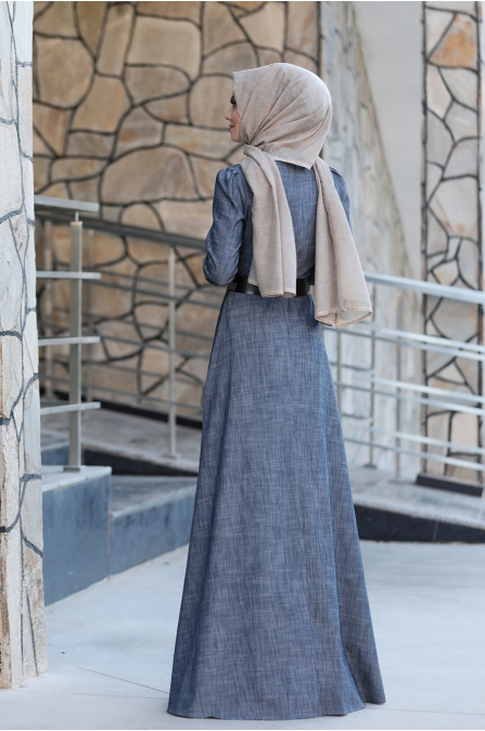 Mina Tesettür Elbise - Ahunisa