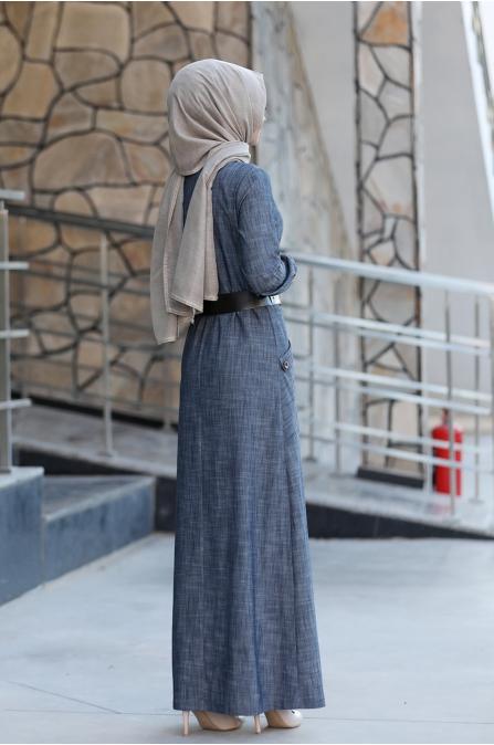 Mira Tesettür Elbise - Ahunisa