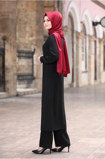 Açelya Takım - Siyah - Ahunisa