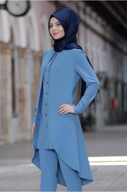 Dilay Takım - Mavi - Ahunisa