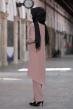 Mina Tunik Pantolon Tesettür Kombin - Vizon