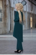 Mina Tunik Pantolon Tesettür Kombin - Zümrüt