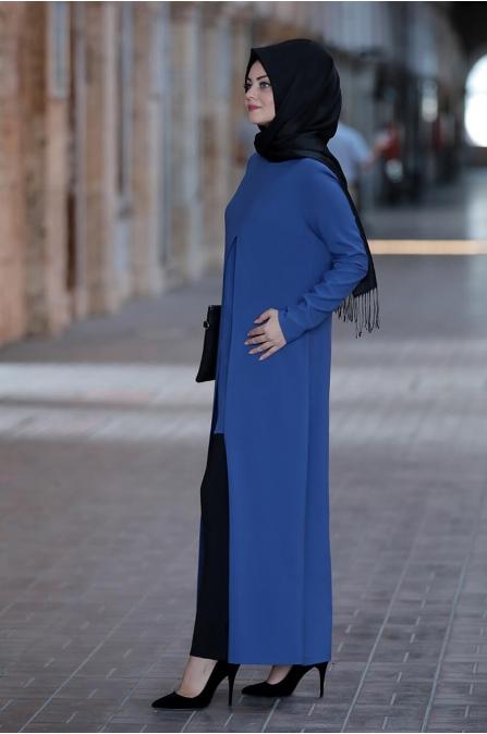 Kardelen Tunik Pantolon Takım - İndigo