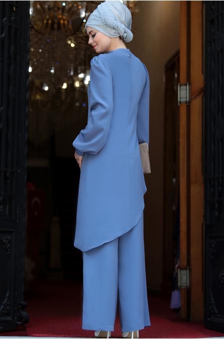Ahunisa -  Kolyeli ikili Takım - Mavi