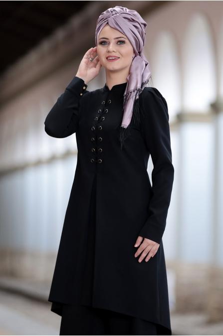 Ahunisa - Mina İkili Takım - Siyah