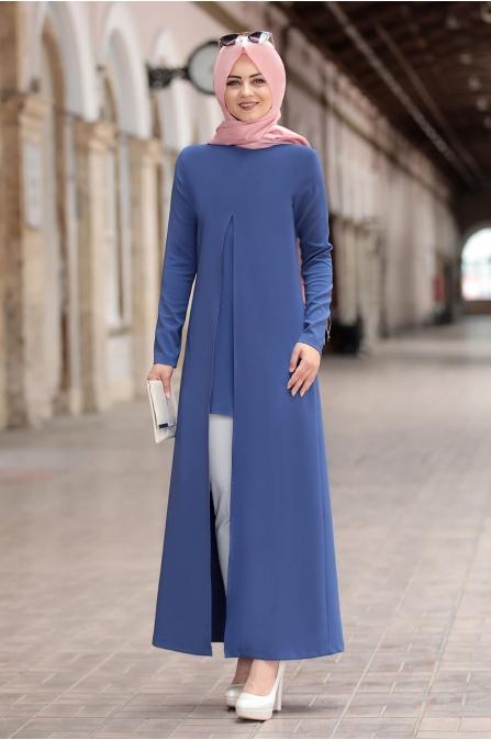 Tunik Pantolon Takım İndigo - Ahunisa