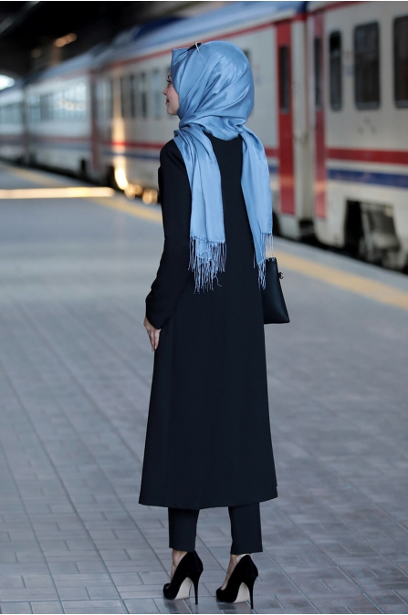 Zarif Ceket Pantolon Takım - Siyah - Ahunisa