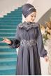 Açelya Abiye - Antrasit - Al Marah