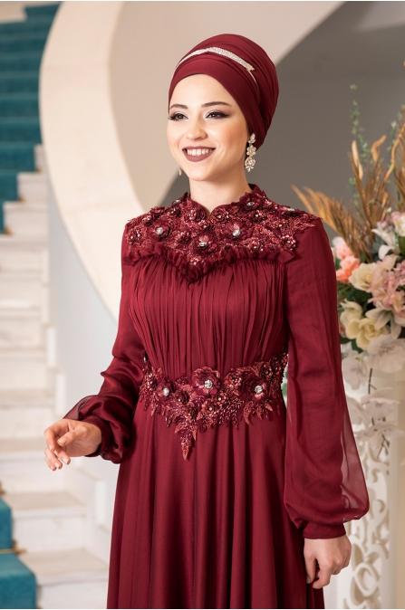 Açelya Abiye - Kırmızı - Al Marah