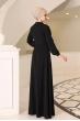 Ahsen Tesettür Elbise - Siyah - Al Marah