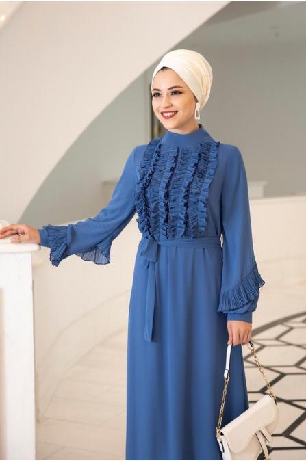 Başak Elbise - indigo - Al Marah