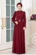 Defne Tesettür Elbise - Bordo