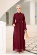 Miraç Elbise - Bordo - Al Marah