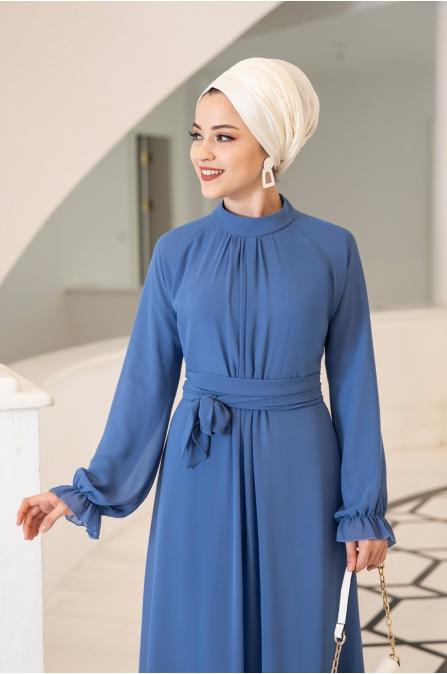 Miraç Elbise - indigo - Al Marah