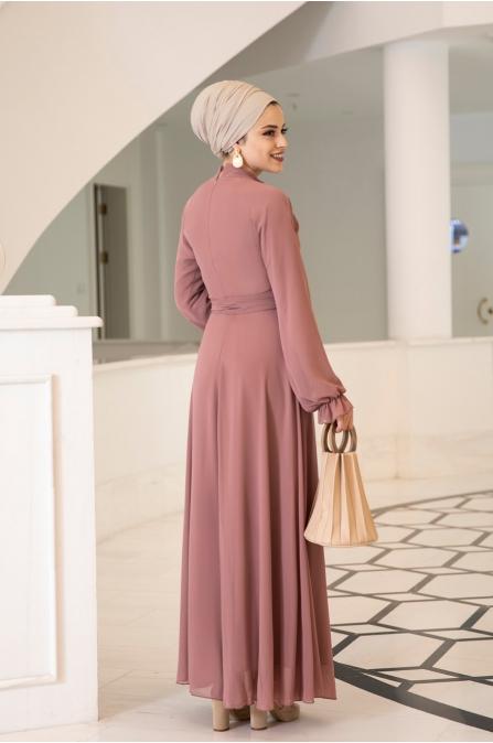 Miraç Elbise - Şeftali - Al Marah