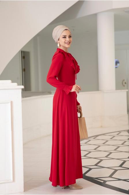 Nehir Elbise - Kırmızı - Al Marah