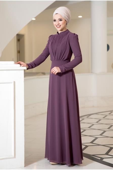 Özüm Tesettür Elbise - Leylak
