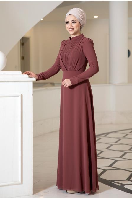 Özüm Tesettür Elbise - Tarçın