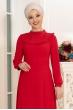 Selin Tesettür Elbise - Kırmızı