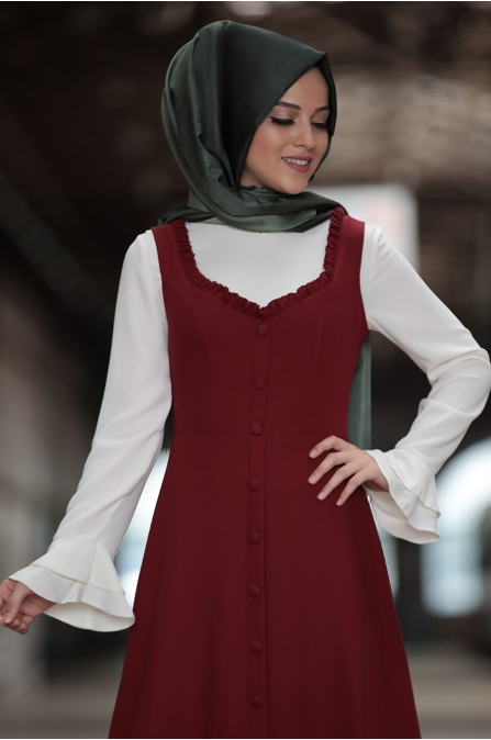 Al Marah - Eylül Jile Elbise - Bordo
