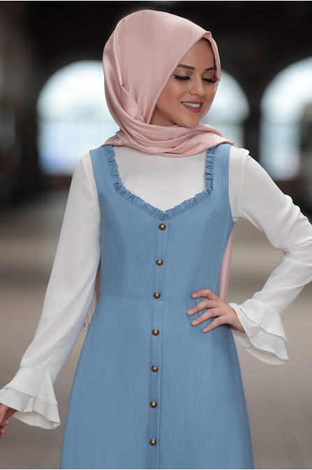 Al Marah - Eylül Jile Elbise - Mavi