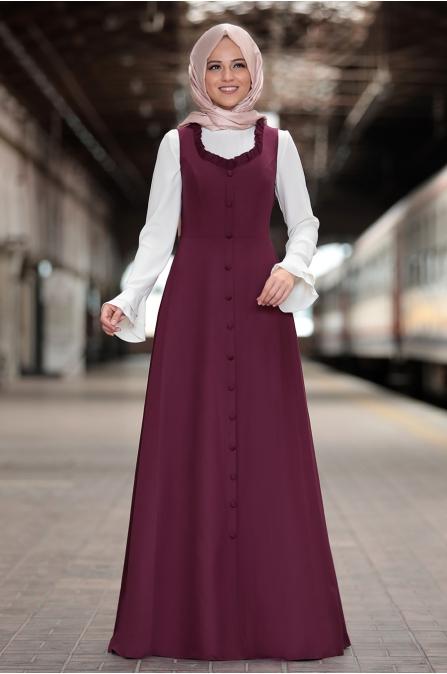 Al Marah - Eylül Jile Elbise - Mürdüm
