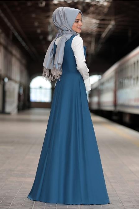 Al Marah - Eylül Jile Elbise - Petrol