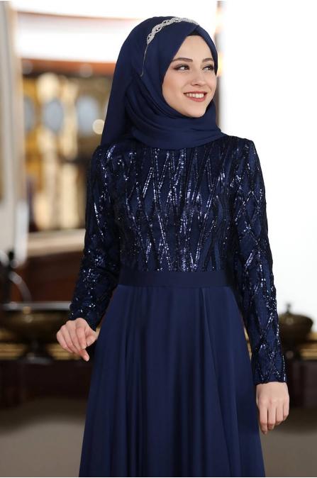 Beylem Abiye - Lacivert - Al Marah