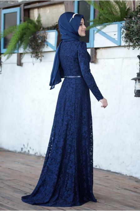 Işıltı Abiye - Lacivert - Al Marah