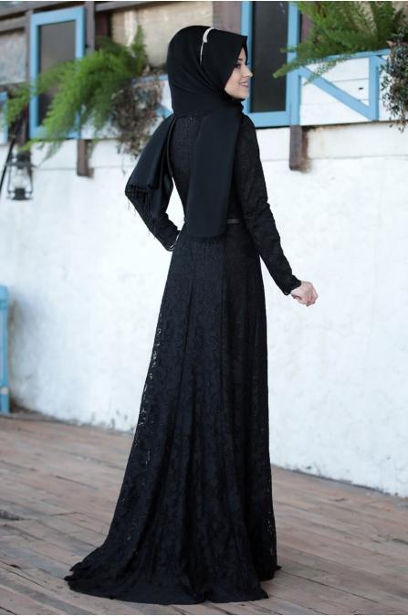 Işıltı Abiye - Siyah - Al Marah