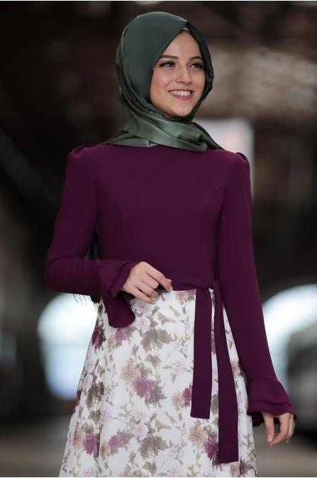 Al Marah - Buse Elbise - Fuşya
