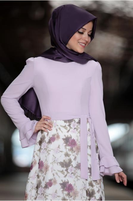 Al Marah - Buse Elbise - Lila