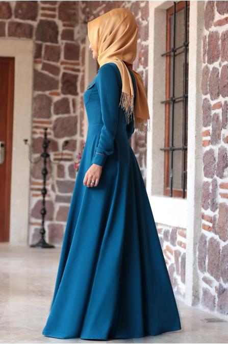 Al - Marah - Cemre Elbise - Petrol Mavi