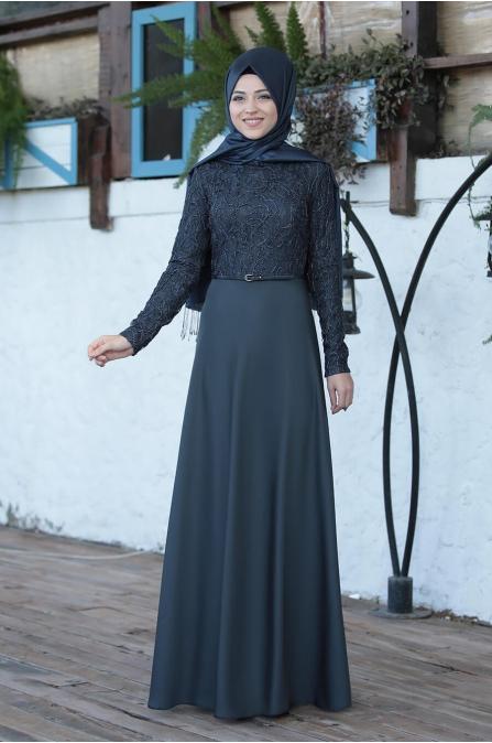 Damla Elbise - Gri - Al Marah