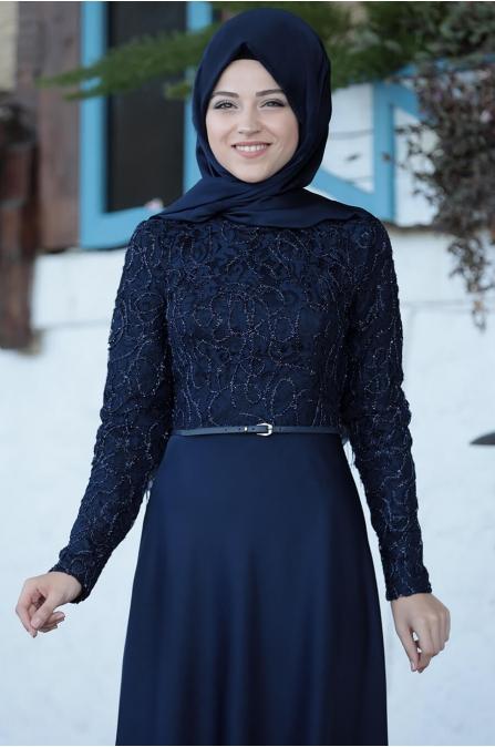 Damla Elbise - Lacivert - Al Marah