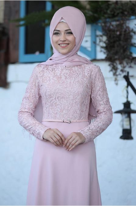 Damla Elbise - Pudra - Al Marah