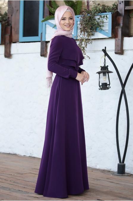 Al Marah - İkra Elbise - Mor
