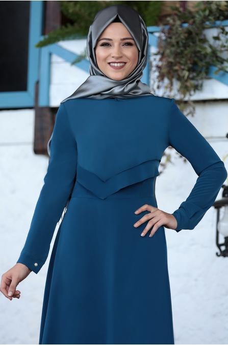 Al Marah - İkra Elbise - Petrol