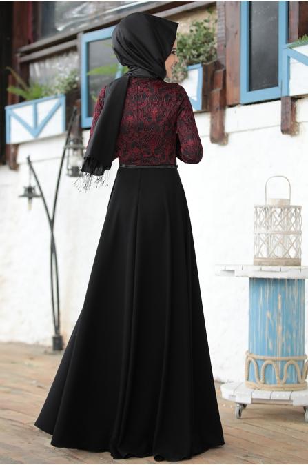 İmge Bordo Elbise - Al - Marah