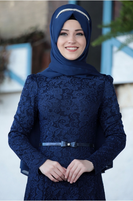 Al Marah - Işıl elbise - Lacivert