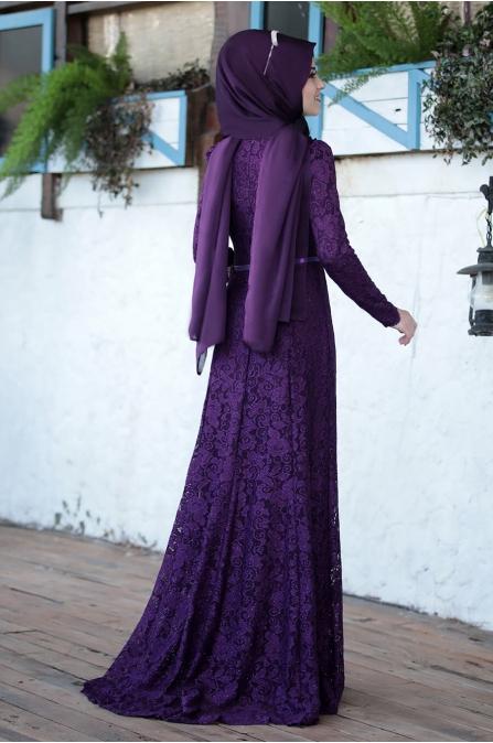 Al Marah - Işıl elbise - Mürdüm