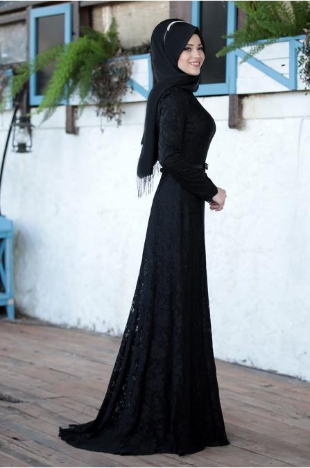 Al Marah - Işıl elbise - Siyah