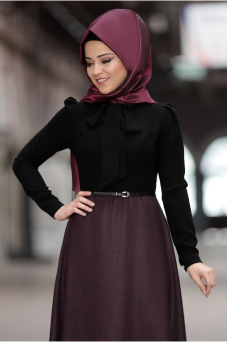 Al-Marah - Kübra Elbise - Fuşya