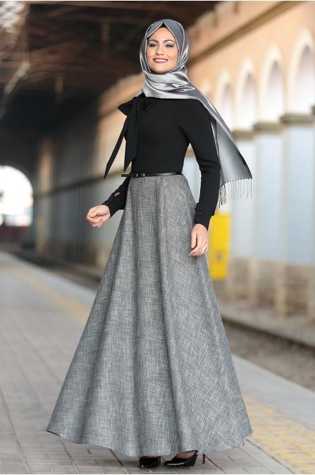 Al-Marah - Kübra Elbise - Siyah