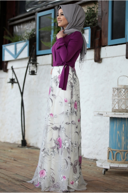 Rose Elbise - Mürdüm  - Al Marah