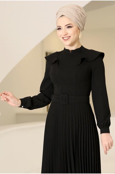 Serra Tesettür Elbise - Siyah