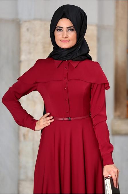 Al - Marah - Tuana Elbise - Bordo