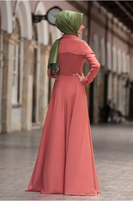 Al - Marah - Tuana Elbise - Kiremit